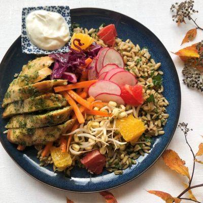 Ruokaa kotiin - Kana-kaurasalaatti