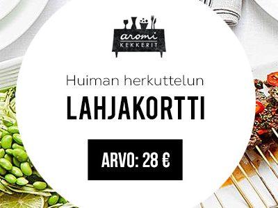 Aromikekkerit-lahjakortti 28 euroa