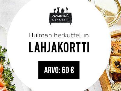 Aromikekkerit-lahjakortti 60 euroa